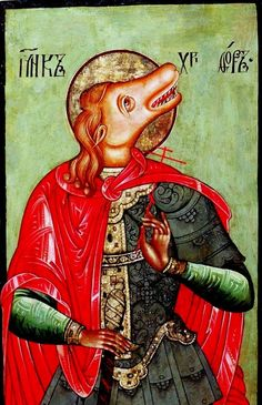 Saint Christopher - Icon from Cherepovets 17th century