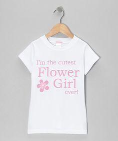 Look what I found on #zulily! White 'Flower Girl' Tee - Toddler & Girls #zulilyfinds