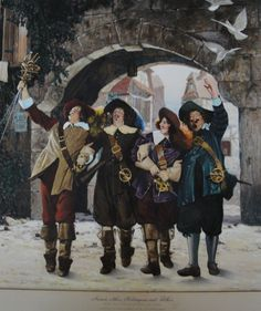 Lajaren A. Hiller ~ The three musketeers