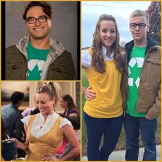 The Big Bang Theory couples costume. Leonard and Penny.
