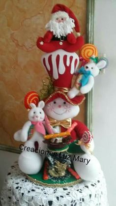Malu, Dolls, Christmas Ornaments, Holiday Decor, Biscuit, Pattern, Holiday Decorating, Christmas Decor, Feltro