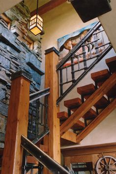 Cool off all that wood with some industrial metal. Locati Architects. comment by Tanna Espy Miller, designNashville