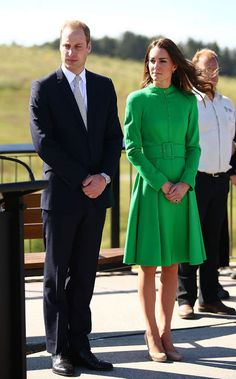 Will and Kate color-blocking (she's in Catherine Walker)