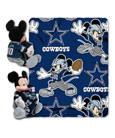 Take a look at this Dallas Cowboys Mickey Mouse Plush & Throw by Street Edge on #zulily today!