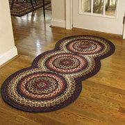 Folk Art Braided Rug Runner by Park Designs. Shop EverythingPrimitives for Primitive, Country, and Rustic décor for your home. Crochet Carpet, Crochet Home, Crochet Rugs, Toothbrush Rug, Homemade Rugs, Knit Rug, Art Populaire, Braided Rugs, Rug Hooking