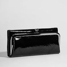 Black patent Hobo wallet