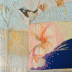 Dana Kinter.~ Tree Collage, Artist Sketchbook, Circle Art, Bird Artwork, Australian Artists, Mail Art, Whimsical Art, Botanical Art, Painting Techniques