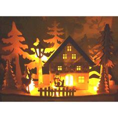 Christmas little wooden house