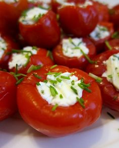 LOVE THESE! Goat Cheese Suffed Peppadews - super easy appetizer (different photo)