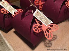 Stampin up, Verpackung, Goodies, Zierschachtel für Andenken, Box, Schmetterlinge, Butterfly, Wimpeleien