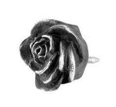 Rose lapel pin in sterling silver - $85