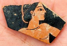 Archaeologists discover unknown ancient city in Greece.  Fragment of red-figure pottery from the late 6th century BC, probably by Attic painter Paseas [Credit: Cecilia Köljing]