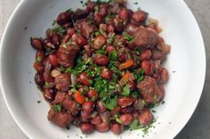 Rancho Gordo's Good Mother Stallard Beans with Lamb Sausage (By Way of Echo Park)