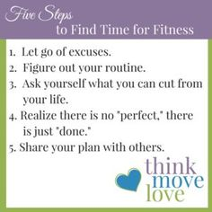 Find time for fitnes