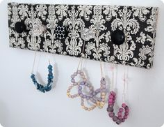 DIY jewelry holder with a cool pattern on it