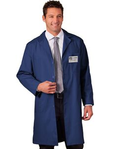 Here is a best-selling White Swan Meta colored lab coat for both men and women that is with a notched lapel collar and a four-button front for closure.