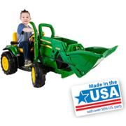 John Deere Ground Loader Battery Powered Ride On Kids Tractor Digger Toy New. The John Deere Ground Loader with a working front loader brings a child's imagination to life. The adjustable seat has flip-up armrests, perfect for growing children. Tractors For Kids, John Deere Tractors, Bmw I8, John Deere Power Wheels, Kids Ride On Toys, Outdoor Toys For Kids, Outdoor Play, Peg Perego, Cool Toys