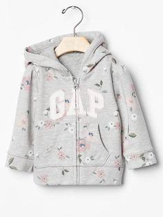 Floral logo zip hoodie Product Image