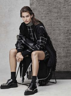 a new attitude: ophelie guillermand by jason kibbler for the edit by net-a-porter 8th october 2015