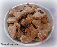 This dog biscuit is amazingly delicious, easy to make and very healthy for dogs.  The recipe uses goji berries, flaxseed, and coconut - all natural dog treat ingredients that offer lots of health benefits to our dogs.
