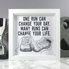 Running Quote Art Print - Unframed / No gift wrap