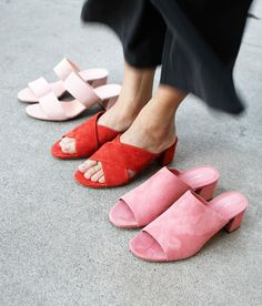Shoes | Mules | Summer | Pink | Color trends | More on Fashionchick.nl