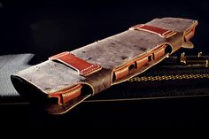 Leather holster for seven blues harps...