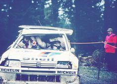 Juha Kankkunen at Rally Lombardia 1986.