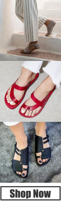 New Arrivals Women's Flat Sandals ! Huarache, Cute Shoes, Me Too Shoes, Where To Buy Clothes, Dream Shoes, Shoe Closet, Beautiful Shoes, Womens Flats, Flat Sandals