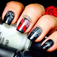 Be brave nail art blog divergent and divergent nails aaaahhhhh divergent nails ashafa prinsesfo Image collections