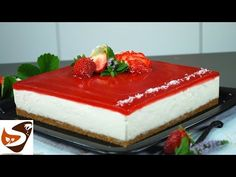Cheesecake fredda: dolce facile, senza cottura (cheesecake alle fragole) - YouTube