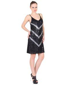Stripe Spangle Dress