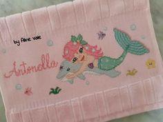 Cross Stitch For Kids, Fifa, Ariel, Names, Mermaid Cross Stitch, Cross Stitch Owl, Alphabet, Baby Cross Stitch Patterns, Baby Washcloth