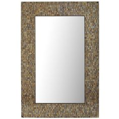 <span class='hide-on-sets'>You need a mirror that reflects your gleam, your glam, your <i>je ne sais quoi</i>. And your face (oh, that face). You need our glittering, handcrafted Amber Mosaic Mirror from India. Hung vertically or horizontally, it's pure razzle-dazzle. An exclusive, just like you.</span>
