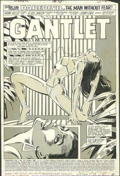 Daredevil 175 page 1 Splash-- Elektra Comic Art