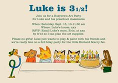 Busytown Birthday Invite from Tales from the Tumbleweeds