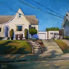 """Upstairs"" - Original Fine Art for Sale - © Nora Bergman ....this looks like Portland"