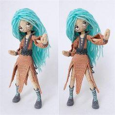 Muñeca moderna amigurumi