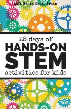 28 days of hands-on STEM activities for kids: coding, STEM challenges, STEM on a budget, and more. Good for young children! Steam Activities, Science Activities, Science Projects, Activities For Kids, Stem Projects, Science Ideas, Science Experiments, Weather Activities, Stem Science