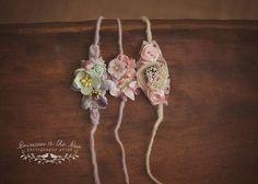 Newborn Tieback Bundle. Photography Props. Baby Photo Props. Newborn Props. Pink Lavender Mint Aqua Tieback. Visit www.princessandthepeaprops.com.au for more!