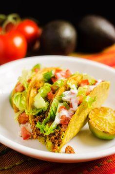 """Meaty"" Quinoa Tacos #BeyondMeat #Vegan #Sponsored"