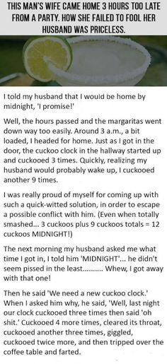 She Came Home 3 hours Late From A Party. Her Husband's Response Is Priceless funny jokes story lol funny quote funny quotes funny sayings joke hilarious humor stories marriage humor funny jokes