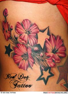 Best representation descriptions: Girls Flower and Star Tattoo Designs Related searches: Lotus Flower Tattoo,Flower Tattoo Designs,Back Tat. Girly Tattoos, Feminine Tattoos, Dream Tattoos, Star Tattoos, Body Art Tattoos, Tatoos, Sweet Tattoos, Beautiful Flower Tattoos, Pretty Tattoos