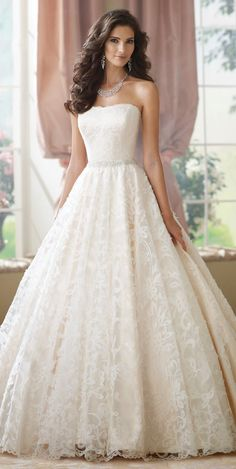 David Tutera for Mon Cheri Fall 2014 Bridal Collection | bellethemagazine.com