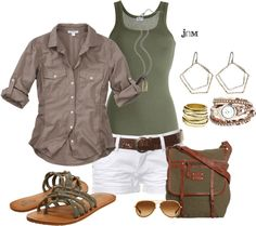 """""""Military green"""" by jayneann1809 on Polyvore"""