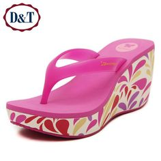 Cheap sandal plastic, Buy Quality shoe machine directly from China shoe carnival sandals Suppliers:            {D&T}New EVA Flip Flops Women Flower Print High Wedges Shoes For Women Sexy Women Sandals 2016 Platform S