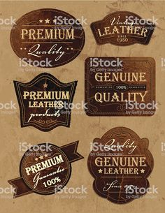 View top quality illustrations of Set Of Vintage Genium And Premium Leather Labels. Find premium, high-resolution illustrative art at Getty Images.