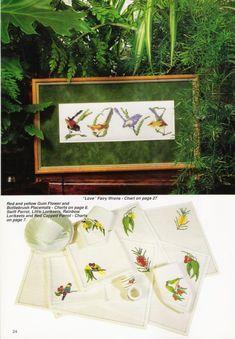 Gallery.ru / Фото #20 - 3 - tymannost Australian Birds, Love Fairy, Wren, Little Red, Cross Stitch, Rainbow, Flowers, Gallery, Home Decor