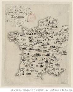 Carte gastronomique de la France - 1810