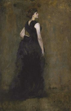 Woman in Black: Portrait of Maria Oakey Dewing (1887). Thomas Wilmer Dewing (American, 1851-1938). Oil on panel. A noted painter in her own right, Maria Oakey Dewing was a talented woman of strong character–qualities suggested by the aristocratic...